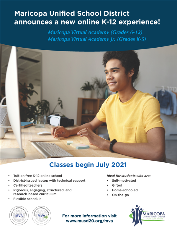 Maricopa Unified School District announces a new online K-12 experience!