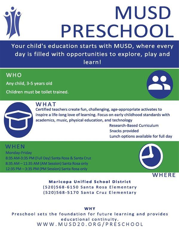 MUSD Preschool Fact Sheet Image 1