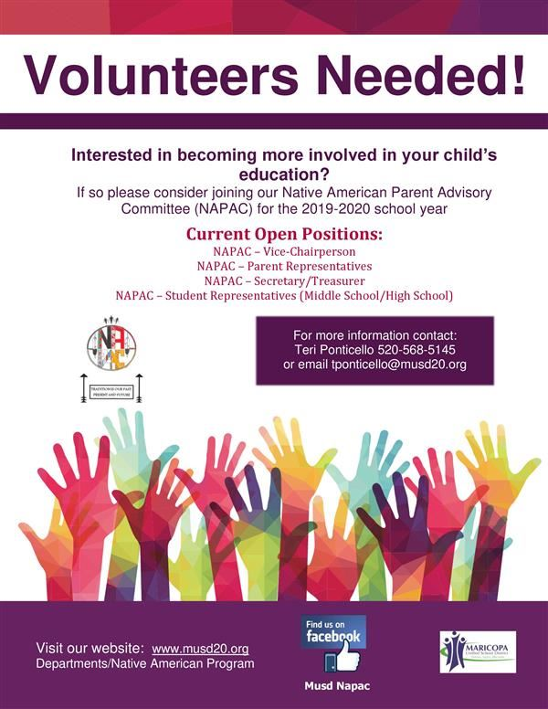 NAPAC Volunteers Needed